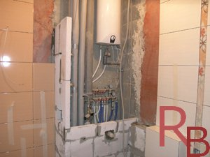 Устройство сантехнического шкафа и установка в него накопительного водонагревателя