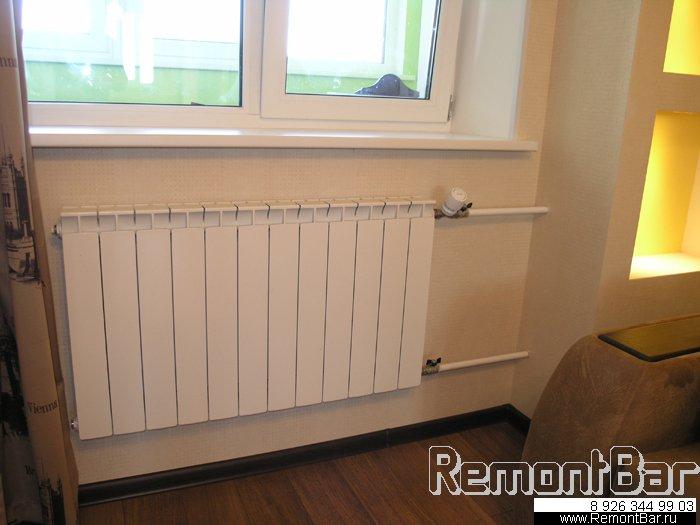 Все радиаторы в квартире мы заменили на новые биметаллические (сварочные работы).
