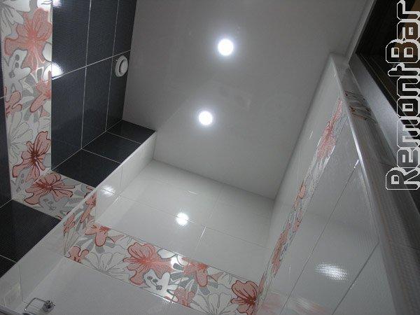 Потолок в ванной, Бронницы, натяжной