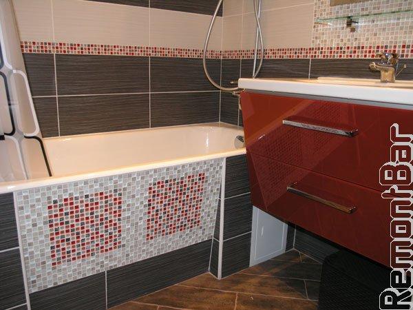 Люк для экрана под ванной из плитку