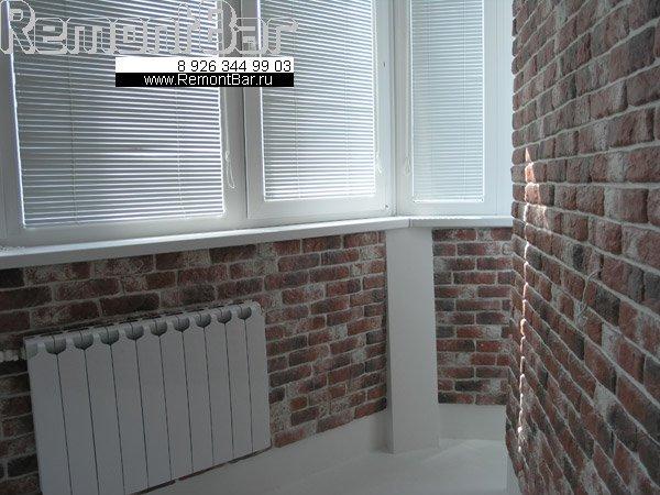 """Облицовка стены искусственным камнем, декоративным """"кирпи...."""