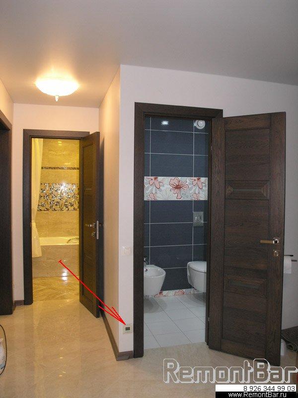 Реостат теплого пола туалета на нашем объекте - Бронницы
